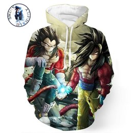 Wholesale Dragon Costume Men - Wholesale- Dragon Ball Z Cosplay Costumes Hoodies One Piece Anime Jack 3d Hoodies Pullovers Casual Street Wear Male Long Sleeve Outerwear