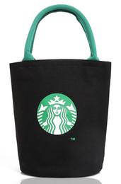 Wholesale Casual Canvas Hand Bags - Wholesale- Fashion Shoulder Bag Canvas Women Handbags Bucket Ladies Hand Bags Casual Big Female Floral Tote Bag For Ipad Bolsos