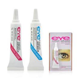 Wholesale Lash Adhesive Glue - Eye Lash Glue Black White Makeup Eye Lash Adhesive Waterproof False Eyelashes Adhesives Glue White And Black Available CCA6770 1200pcs