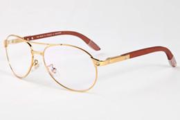 Wholesale Screw Eyes - free shiping 2017 oversized sunglasses for men brand designer buffalo horn glasses women screw wood legs aviator sunglasses