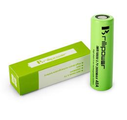 Wholesale High Power Li Ion Battery - Free shipping green high power 40a 2600mah li ion brillipower for box mod e cigarette mod battery