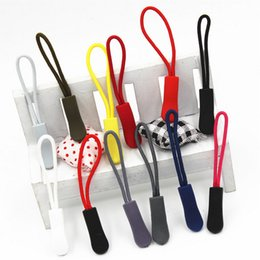 Wholesale locking clothes - 16Colors Zipper Pulls Cord Rope Ends Lock Zip Clip Buckle Black For Backpack Clothing Accessories 1000pcs Free DHL Fedex