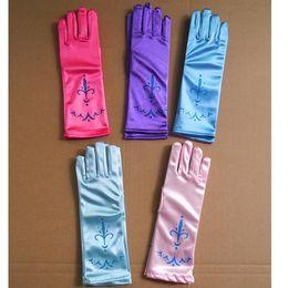 Los nuevos niños de la llegada imprimen guantes del partido Guantes de la princesa de Cosplay Vestidos del traje Los guantes de la etapa de la danza Regalos de Navidad L: los 24cm HH-G01 desde fabricantes