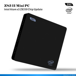 Wholesale Vga Cable Tv - Z83II TV Box 2G 32G Windows 10 Intel Atom X5-Z8350 4K 1000M LAN Mini PC 2.4G+5.8G Wifi Miracast Bluetooth 4.0 HDMI To VGA Cable