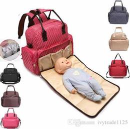 Wholesale Polka Dot Diaper Bags - Mummy Maternity Nappy Bag Large Capacity Baby Bag Travel Backpack Desiger Nursing Bag for Baby Care dot print Diaper Bags mini order 32 pcs