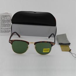 Wholesale Wholesale Mens Designer Frames - 10pcs High Quality Fashion cassdall Designer Sunglasses Sun Glasses For Mens Womens Tortoise Frame Green 51mm Glass Lenses With Box