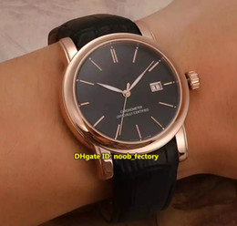 Wholesale Classico Watch Black - Luxury Brand High Quality Ulysse San Marco Classico Automatic Men's Watch 8156-111-2 92 Rose Gold Black Dial Leather Strap Gents Watches