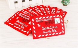 Wholesale Christmas Ornament Holders - Christmas Decorations Christmas Tree Ornament Folding Envelope Bag Card Holder Bag Candy Gift Bag Party Decoration