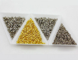 Wholesale Bronze Crimps - 1200pcs 2mm Round Copper Metal Beads Crimp End Bead For Diy Jewelry Findings And Components Nickle Bronze Gold Sivler Plated