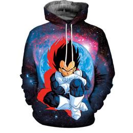 Wholesale Character Coats - Galaxy Dragon Ball Z 3D Print Hoodies Mens Womens Sweatshirt Dragonball Super Saiyan Goku Graphic Hooded Unisex Pullover Coat