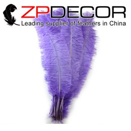 Wholesale Large Ostrich Feathers Wholesale - ZPDECOR 50pcs lot 55-60CM(22-24inch)Large Bulk Sale Available Dyed Lavender Ostrich Nandu Trimmed Feathers for Hats Craft Costume Wedding