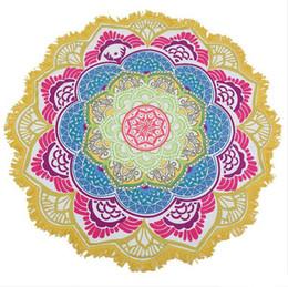 toalla rosa de gimnasia Rebajas Mandala india Toalla de playa Borla Estampado Tapicería Hippy Boho Mantel Bohemio Cubiertas de servilletas Mantón de playa Envoltura de yoga Estera