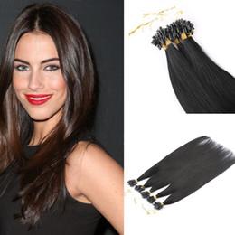 Wholesale auburn micro loop hair extensions - Quantity 16''-24 inch Micro loop hair extension with tipped loop beads 100S Fast shipping in stock