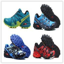Wholesale Men Cheap Walking Shoes - Wholesale 2017 Cheap New Zapatillas Speedcross 3 Running Shoes Men Walking Ourdoor Sport shoes Athletic Shoes Size 40-46