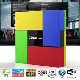 Wholesale Android Stick Dual - T95K PRO TV Box Amlogic S912 2GB OTT TV Octa Core Dual WIFI Bluetooth 4.0 UHD 4K 3D Android Smart Android Stick