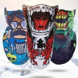 Wholesale Women Pirate Scarf - DHL Fedex 12 lot Outdoor Ski Snowboard Cycling Winter Warmer Sport Full Face Mask Pirates Triangular Scarf Skiing Mask