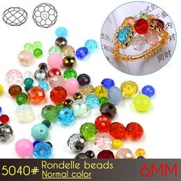 Wholesale Cross Jewelry Color - Nail art Glass Rondelle Beads 6mm Normall Color A5040 100pcs set Crystal Beads for Jewelry Making