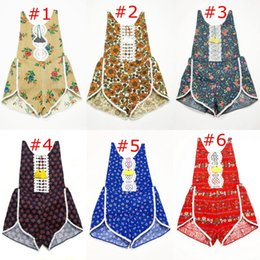 Wholesale Lace Spandex Headbands - summer ins floral fringe toddler girls rompers set cotton lace baby romper + headband flower print jumpsuits newborn onesies infant clothes