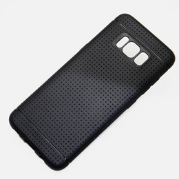 Wholesale Materials Net - for Samsung Galaxy S8 case net hot fashion silicone soft TPU material Imitation slip design black color
