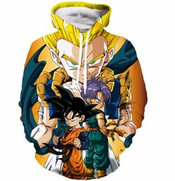 Wholesale Cool Hooded Sweatshirts - Cool Goku Print 3D Hoodies Men Women Hoodie Sweatshirt Classic Dragon Ball Super Saiyan Hooded Sweatshirts Pullovers