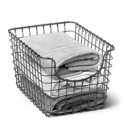 Wholesale Storage Baskets Japanese - Spot Japanese style home iron storage box, grocery shopping basket, iron, sundries, storage, storage basket, new style