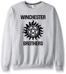 Wholesale Winchester Sweatshirt - Wholesale- Supernatural hoodies men 2017 autumn brand clothing streetwear hipster harajuku fleece crossfit winchester brothers sweatshirt