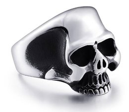 Wholesale Stainless Steel Skull Jewelry Wholesale - Men's Punk Rock JewelrySteel soldier stainless steel exquisite skull men ring high quality jewelry br8-323