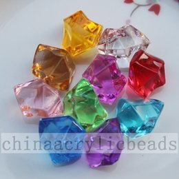 Wholesale Clear Crystal Table Scatter - Wedding Vase Fillers by Acrylic Crystal Stones 100pcs Ice Rocks table scatter beads