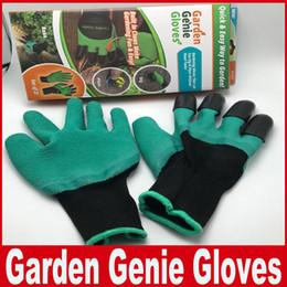 Wasserdichte gartenhandschuhe online-Garten-Genie-Handschuhe mit 4 Claws, die in den Greifer-Garten-Spaß errichtet werden Einfaches Graben, das Handschuhe wasserdicht gegen Dornen pflanzt