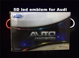 Wholesale led audi - 5D car led emblem car led badge car led symbols logo for Au*d size 180x58mm
