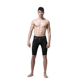 Wholesale Sexy Netted Lingerie - Wholesale- Mens Latex Imitation Leather Net Mesh Panties Pvc Mens Lingerie Unisex Panties sexy men's panty size S-XL
