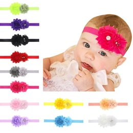 Wholesale Sunflower Headbands - Hot sale Rhinestones Sunflower baby headband baby stretch hair band hair band TG158 mix order 30 pieces a lot