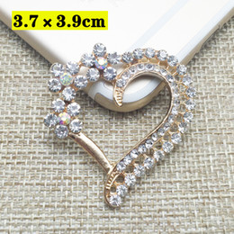 Wholesale Crystal Rhinestone Applique Embellishment - 50pcs Heart Crystal Jewelry strass Charms Rhinestone Applique Wedding Hair Accessories Earring Pendant DIY Flat Back Drilling Embellishment