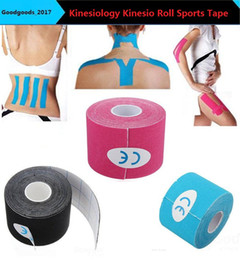 Wholesale Kinesiology Muscle Tape - NEW Kinesiology Kinesio Roll Cotton Elastic Adhesive Muscle 5cm x 5mSports Tape Bandage Physio Strain Injury Support M0410