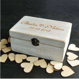 Wholesale Wood Book Box - Wholesale-Custom Wedding Guest book Box, Personalized memory box, Rustic Wedding Guestbook, Custom wood keepsake box