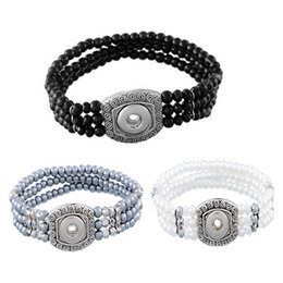Wholesale Elastic Bracelet Beads - 2016 Beads Elastic Noosa Bracelets Fit 5.5mm Dia Snap Button DIY Jewelry Accessory Charms Wristbands Valentine'S Gift N10L