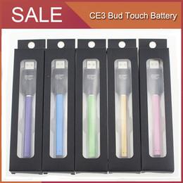 Wholesale Mini Styles Pens - CE3 O pen Bud Touch Style Battery mini CE3 280mAh E Cigs 510 Thread E cigarettes Vaporizer For Wax Oil Cartridges Vaporizer Vape