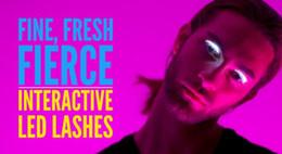Wholesale Led Eyelashes Wholesale - Lashes Interactive LED Eyelashes Fashion Glowing Eyelashes Waterproof for Dance Concert Christmas Halloween Nightclub Party DHL Free Shippin