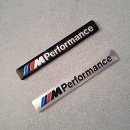 Wholesale M Decals - M Performance Car Logo Hood Decal Sticker Emblem for BMW M SERIES M3 M4 M5 M6 e46 e60 e90 e92 f20 10PCS Lot