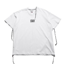 Wholesale Black Men Street Clothes - Best quality 2017 new top summer staff vetements cotton oversize t-shirt hiphop high street clothes kanye west fashion tee