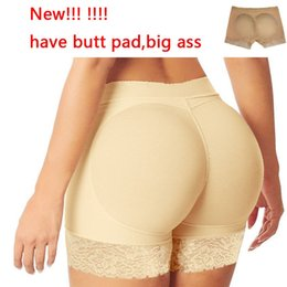 Wholesale Butt Inserts - Wholesale- PRAYGER 3pcs Lace Butt Lifter Padded Panties Sexy Big Ass Bottoms Underwear Removable Inserts Bottom Booty Hip Lifter Shaper