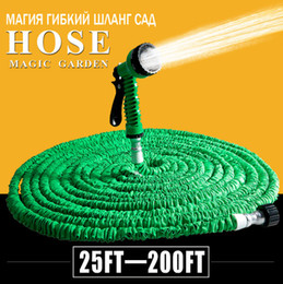 Wholesale Hose Expandable Nozzle - Hot Selling 25FT-150FT Garden Hose Expandable Magic Hose Flexible Water EU Hose Plastic Hoses Pipe With Spray Gun To Watering