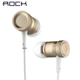 Wholesale Mp4 High Sound - ROCK 3.5mm In-ear Metal Earphones Earbud Headset with Microphone & Remote clear sound & strong bass Original Mula High quality