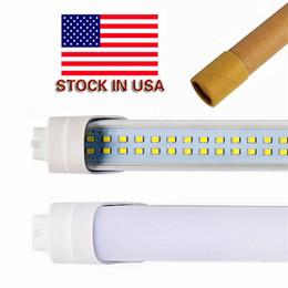 luz del refrigerador del solo perno de 5ft led Rebajas Nosotros stock LED T8 Tubo doble fila 4FT 28W SMD 2835 G13 192LEDS 1.2m luz 85-265V llevó la iluminación fluorescente