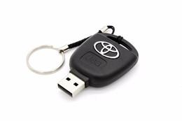 Wholesale Usb Car Key Drive - Toyota car key USB Flash Drive 4GB 8GB 16GB 32GB keychian U disk Pen Drive Memory Stick USB 2.0 key memory card