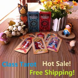 Wholesale Free Decking - Verb1.0 Red Blue Choice Classical Waite Class Tarot Cards Chinese Version 78 PCS SET Tarot Deck for Divine Instruction free ship