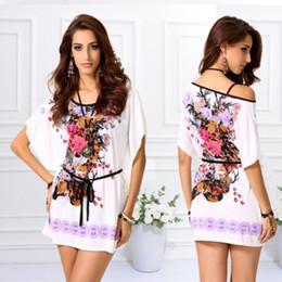 Wholesale Ice Silk Dresses Plus Size - Women Dresses Big Size Short Sleeved T-Shirt Printed t Shirt Ice Silk Plus Size Women Clothing