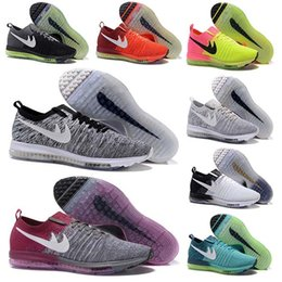 Wholesale Barefoot Trainers - New 13Color New Air Mesh Zoom All Out Flywire Barefoot Knit Trainer Men Running Shoes Jogging Zapato