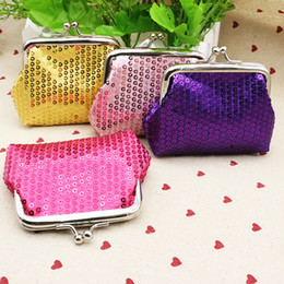 Wholesale Girls Banks - Fashion Sequins Long Wallet Women Girls Fashion Paillette Coin Purse Key Holder Hasp Buckles Bag Handbag Bank Card Casual Bag HH-P05