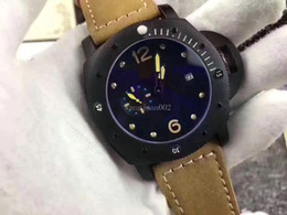 Wholesale Men Watches Low - 2017 NEW Lowest Price Luxury Watches Brown Tachymeter Date Leather strap Sport Quartz Wrist Watch Men wtchesver JJ5